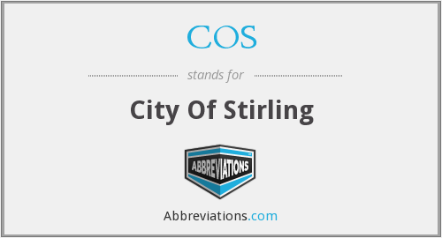 COS - City Of Stirling