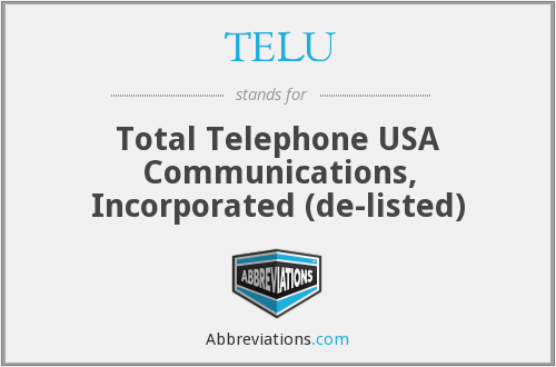 What does TELU stand for?