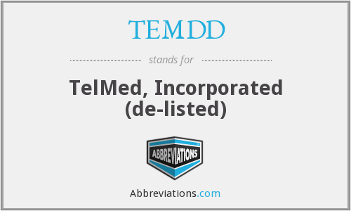 TEMDD - TelMed, Incorporated  (de-listed)
