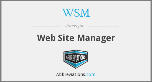 WSM - Web Site Manager