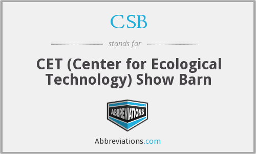 CSB - CET (Center for Ecological Technology) Show Barn