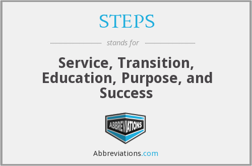 STEPS - Service Transition Education Purpose And Success