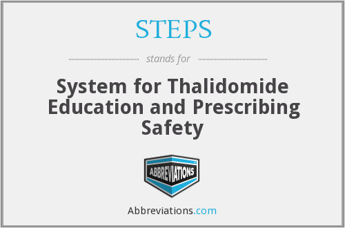 STEPS - System For Thalidomide Education And Prescribing Safety