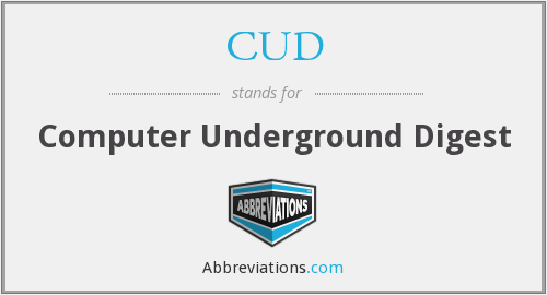 What does CUD stand for?