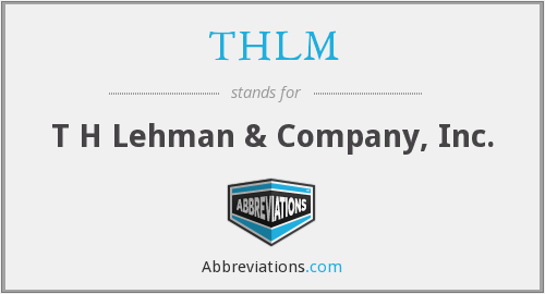 What does THLM stand for?