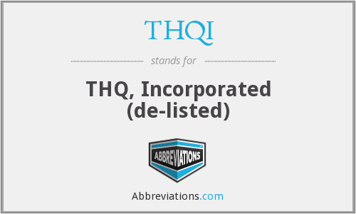What does THQI stand for?