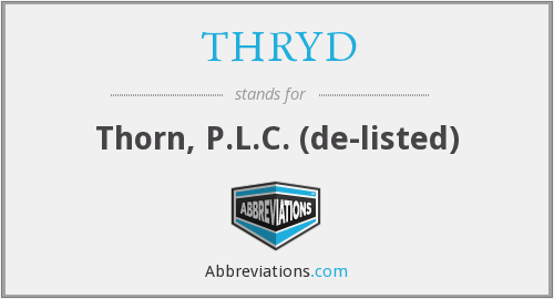 What does THRYD stand for?