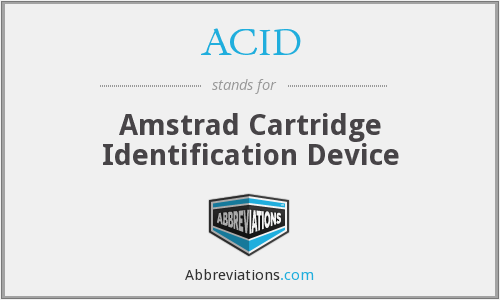 ACID - Amstrad Cartridge Identification Device