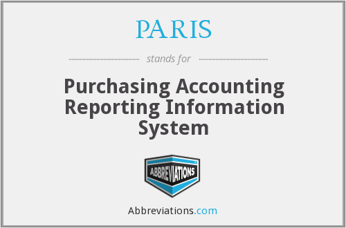 PARIS - Purchasing Accounting Reporting Information System