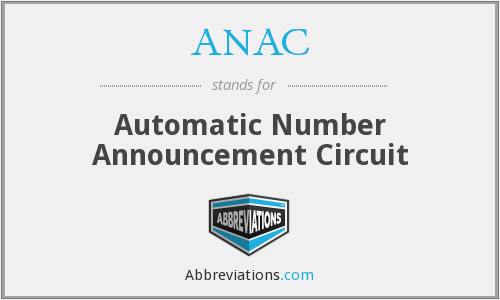ANAC - Automatic Number Announcement Circuit