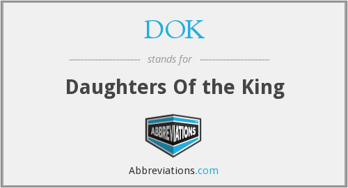 What does DOK stand for?