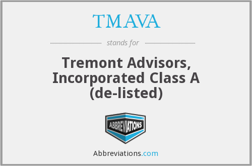 What does TMAVA stand for?