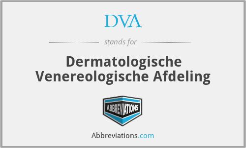 DVA - Dermatologische Venereologische Afdeling