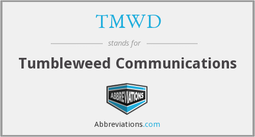 What does TMWD stand for?