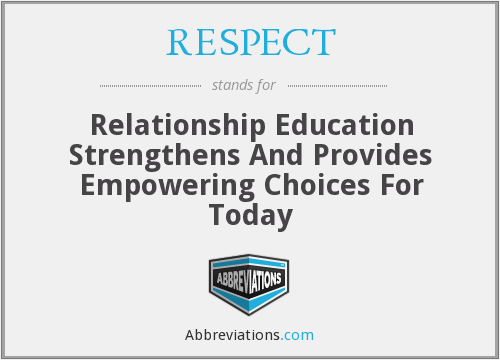 RESPECT - Relationship Education Strengthens And Provides Empowering Choices For Today