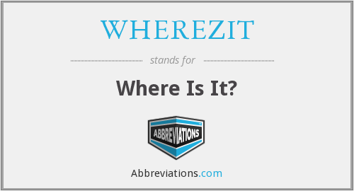 WHEREZIT - Where Is It?