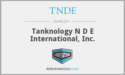 What does TNDE stand for?