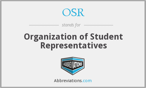 OSR - Organization of Student Representatives