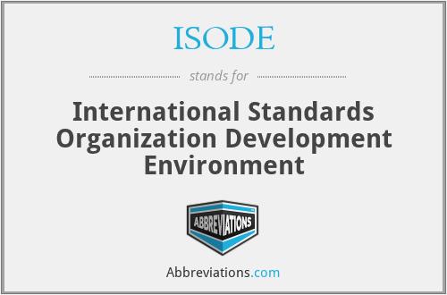 ISODE - International Standards Organization Development Environment