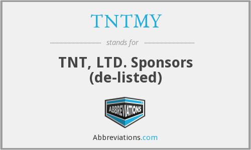What does TNTMY stand for?