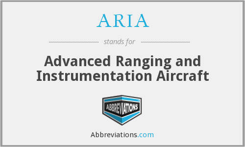 ARIA - Advanced Ranging and Instrumentation Aircraft