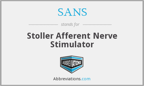 SANS - Stoller Afferent Nerve Stimulator