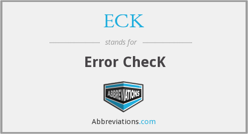 ECK - Error ChecK