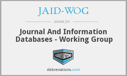 What does JAID-WOG stand for?