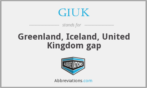 GIUK - Greenland, Iceland, United Kingdom gap