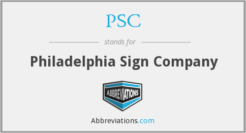 PSC - Philadelphia Sign Company
