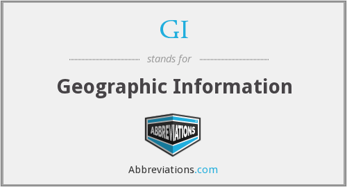 GI - Geographic Information