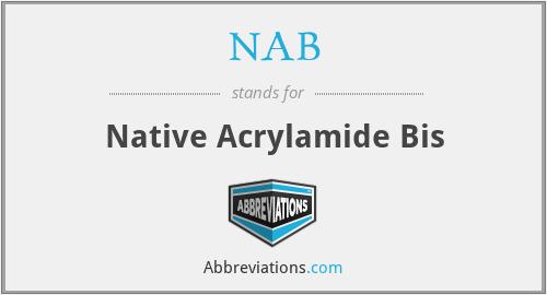 NAB - Native Acrylamide Bis