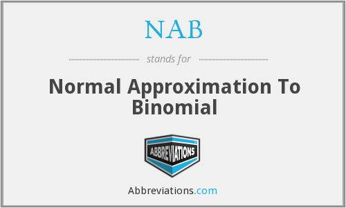 NAB - Normal Approximation To Binomial