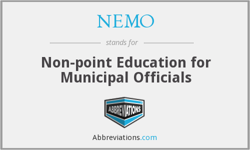 NEMO - Non-point Education for Municipal Officials