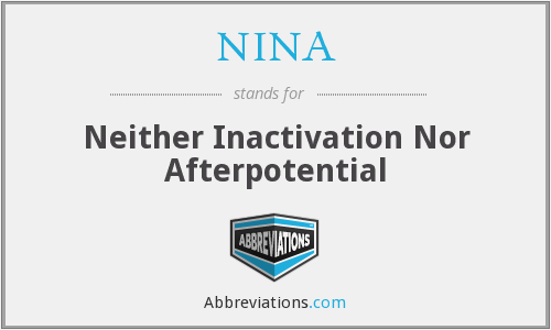 NINA - Neither Inactivation Nor Afterpotential