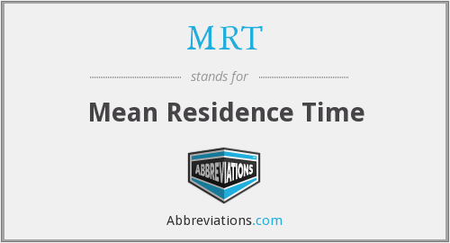 MRT - Mean Residence Time
