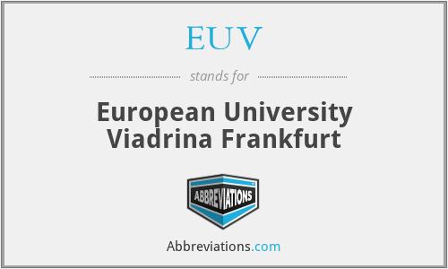 EUV - European University Viadrina Frankfurt