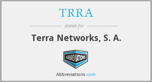 What does TRRA stand for?