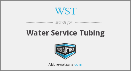 WST - Water Service Tubing