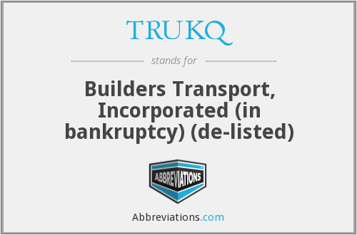 What does TRUKQ stand for?