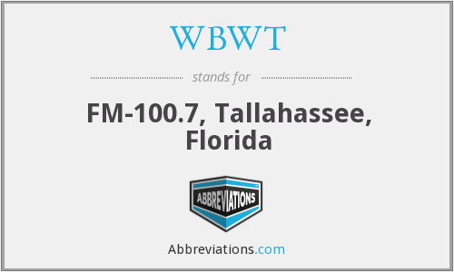 WBWT - FM-100.7, Tallahassee, Florida