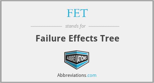 FET - Failure Effects Tree
