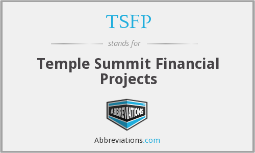 TSFP - Temple Summit Financial Projects