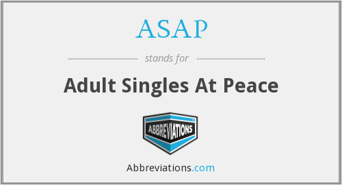 ASAP - Adult Singles At Peace