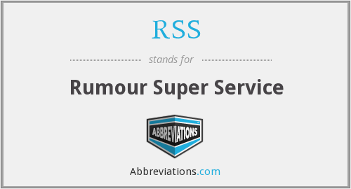 RSS - Rumour Super Service