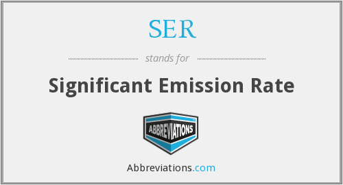 SER - Significant Emission Rate