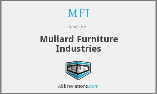 MFI - Mullard Furniture Industries