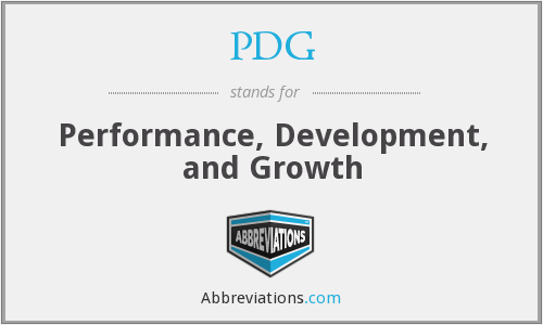 PDG - Performance, Development, and Growth