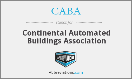 CABA - Continental Automated Buildings Association