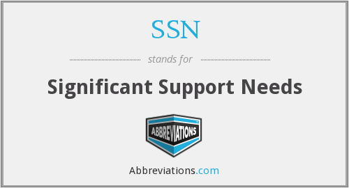 SSN - Significant Support Needs